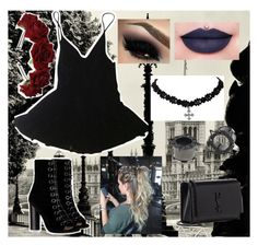 """Goth in London"" by rycw180 ❤ liked on Polyvore featuring HAMNETT, Barbara Bui, Jeffree Star and Yves Saint Laurent"