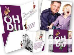 Oh+du+fröhliche+und+schrille+Weihnachtszeit+-+peppige+Weihnachtskarte Playing Cards, Photos, Bunting Banner, Cool Christmas Cards, Book Folding, Invitations, Weihnachten, Playing Card Games, Cards