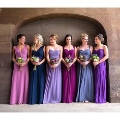 Roses are red, violets are blue, we love these bridesmaid dresses, and think you will too. #bemine #happyvalentinesday #love