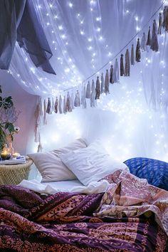 Super Cozy Ways To Hang String Lights #Decor #Trusper #Tip
