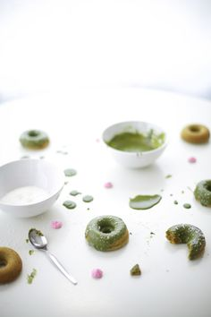 Green Velvet Baked Sprinkle Donuts Recipe — Dishmaps