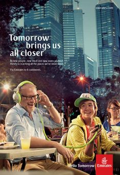 What is most compelling is the use of inter-generational interplay to involve older travelers both in the TV commercial and print ads. Congrats to Emirates and their agencies on an inspiring new advertising campaign. Very clever and far-sighted of them to involve interplay between young and old like my other favorite campaign for Guinness in …