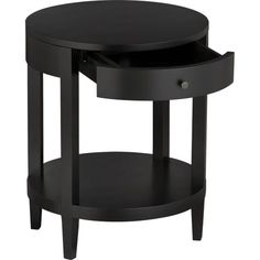 LaSalle Round Nightstand In Nightstands | Crate And Barrel