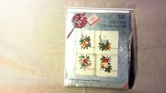 Christmas Placemat Embroidery Kit - Ornaments - Needlepoint Counted Cross Stitch