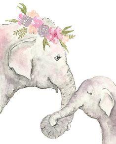Elephant nursery print - watercolor Elephant- elephant printable - child elephant Illustration Children obtain Watercolor Animals, Watercolor Paintings, Elephant Watercolor, Tattoo Watercolor, Art Paintings, Watercolors, Animal Drawings, Cute Drawings, Elephant Drawings