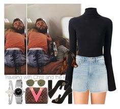 """""""Traveling with Chris and the kids."""" by outfitsbynina9 ❤ liked on Polyvore featuring DAMIR DOMA, Forever 21, Marissa Webb, Chanel, Gucci, Passport, Louis Vuitton, Ahlem, Effy Jewelry and Bulgari"""