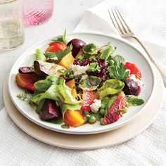 Spring Beet and Pea Salad | MyRecipes Wilson suggests using your best olive oil to indulge both your veggies and your palate.