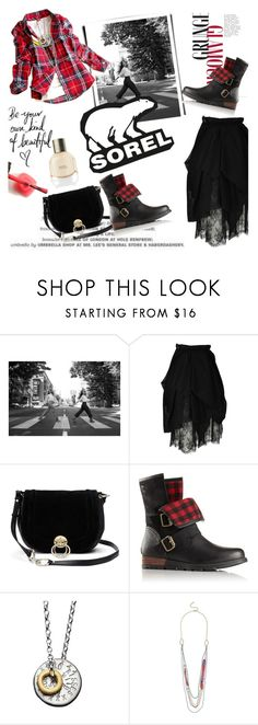 """Kick Up the Leaves (Stylishly) With SOREL: CONTEST ENTRY"" by clotheshawg ❤ liked on Polyvore featuring SOREL, Chanel, Diane Von Furstenberg, Chambers & Beau and sorelstyle"