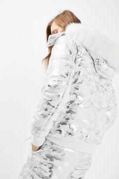 **Foil Camo Ski Jacket by Topshop SNO