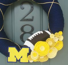 University of Michigan football wreath