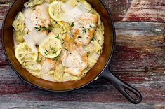 lemon chicken with artichokes [recipe]