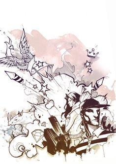 Stunning Graffiti Style Illustration by Filipe Aguiar