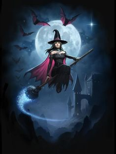 Image Halloween, Halloween Pictures, Halloween Art, Halloween Witches, Fantasy Witch, Witch Art, Fantasy Art, Witch Pictures, 3d Pictures