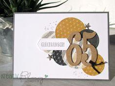 so nennt sich das Designerpapier, das ich für diese Männerkarte mit den Stickmusterkreisen ausgestanzt habe. (Die Framelits Stickmuster si...