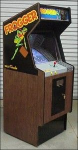 FROGGER!!  One of the many games we used to play at Chuckee Cheese pizza parlor & game arcade.