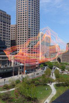 Janet Echelman Creates Aerial Rope Sculpture Made Of Super ...