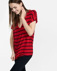 striped express one eleven wedge tunic tee from EXPRESS