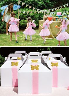 Enchanted Garden Fairy Birthday Party // Hostess with the Mostess® - So sweet Favor boxes