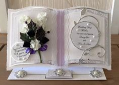 Bookatrix Wedding card with box, handmade and personalised, OOAK and unique…