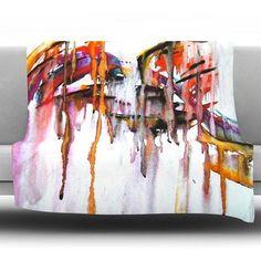 KESS InHouse Cascade Fleece Throw Blanket Size: 60'' L x 50'' W