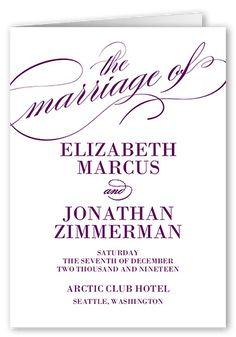 Modish Marriage Wedding Program, Purple
