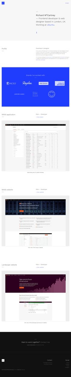 Simple One Page portfolio for Richard McCartney, a UK-based front-end dev working at Ubuntu.
