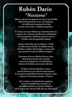 """Poema """"Nocturno"""" de Rubén Darío, presente en el libro -Poesía- de nuestra Colección Clásica"""