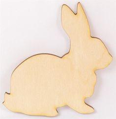 Unpainted Rabbit Wood Cutout | Wood Cutout | Wooden Shape | Unfinished Wood Cutouts and Shapes