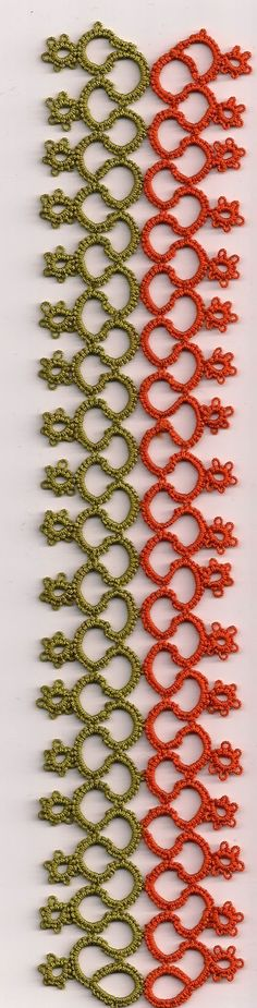 Tat's Heaven Bookmark . Could make a beautiful broad lace, border, or insertion ! No pattern, but clearly decipherable from the pic itself.