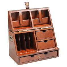 For the businessman:  Barrister's Leather Desktop Organizer, $234 | Wayfair