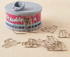 Paper clips shaped like cats.