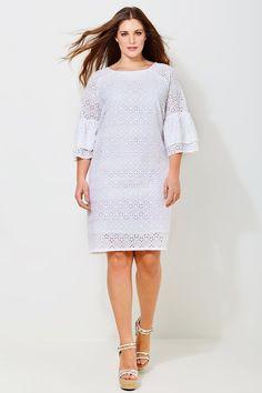 4403ad5ff11d Beautiful white Dress by Mat Fashion  fashion  plussize  plussizefashion   grotematenmode grote maten