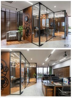 An Office Space with Visual Connectivity and Framed Compositions : The Metal and Tool Project   Sparc Design Office Interior Design, Office Interiors, Office Decor, Architects, Space, Metal, Projects, Room, Furniture