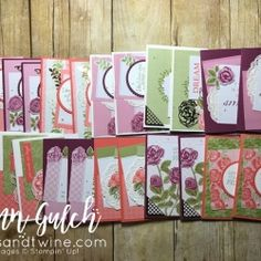 """Petal Garden Card Pack, Delicate White Doilies, Pearl Basic Jewels, Rich Razzleberry, Calypso Coral, Whisper White, Layering Circle Framelits Dies, Old Olive, 2-1/4"""" Circle Punch, Just Add Text Clear-Mount Stamp Set"""