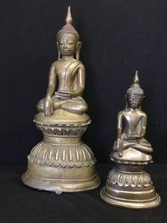 Two Awa bronze Buddhas. Burma. 18th cent.