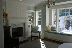 Faves: fireplace detail in tile and above mantel, color, built-ins