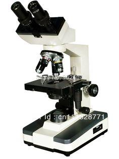 260.00$  Buy now - http://aliv02.worldwells.pw/go.php?t=732418932 -  40x-1000x Sliding Binocular Head Laboratory Illluminated Biological Microscope with LED Lamp TXS08-04B