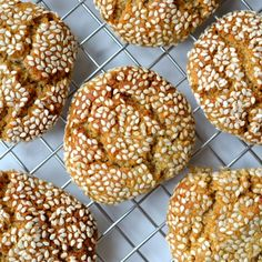A favorite Christmas Cookie! Tahini & Honey cookies are chewy with a crunchy sesame coating. Scd Recipes, Almond Recipes, Cookie Recipes, Dessert Recipes, Free Recipes, Healthy Recipes, Desserts, Honey Recipes, Easy Recipes