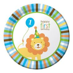 Amazon.com: Creative Converting-Sweet 1st Birthday Boy Plates (Lunch): Toys & Games