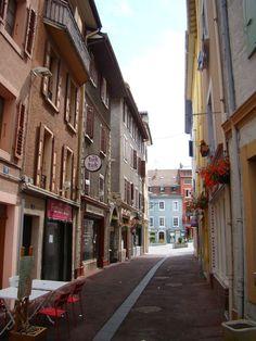 Centre Ville (downtown) Évian-les-Bains (France)