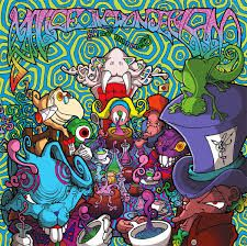 Trippy, fantasy, mad hatter, looney, pattern, colours, bright