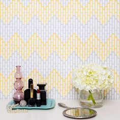 Kimberly Lewis Home Sierra Cadmium Wallpaper | Pure Home #yellow #chevron