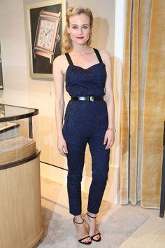 Diane Kruger en combinaison Jason Wu de la collection prntemps-été 2013  à la soirée d'inauguration du flagship Jaeger-LeCoultre à Paris, le 20 novembre 2012