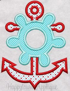 Anchor Machine Embroidery Design by HappytownApplique on Etsy, $4.00