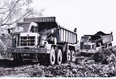 B/W PHOTO RUSSELL OF DENNY FODEN HALF CAB 8 WHEEL DUMPER TRUCK - PWG 208G #Notapplicable Axe, Plant, Trucks, Classic, Modern, Photos, Derby, Trendy Tree, Truck