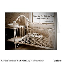 Baby Shower Thank You Note May The Lord Bless You Card