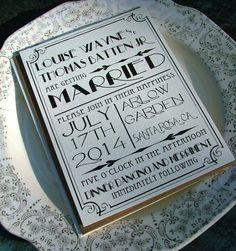 Convites de Casamento para Art Deco | Art deco Wedding invitations
