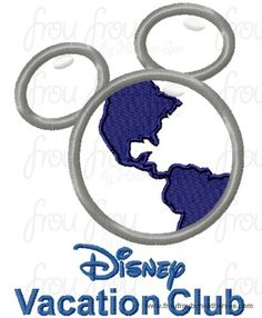 Dis Vacation Club Globe With and Without Wording Resort Timeshare Hotel Motel sign TWO DESIGN SET machine applique Embroidery Design, multiple sizes- including 4  inch