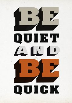 Bold typography from Ian Caulkett