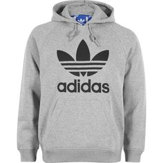 adidas RAG Trefoil hoodie ❤ liked on Polyvore featuring tops, hoodies, coats, jumpers, sweaters, adidas hoodies, adidas top, hooded sweatshirt, hooded pullover and adidas hoodie